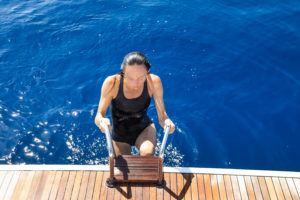 badedragt svømmedragt med ben til damer og piger