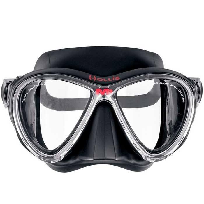 hollis m3 dykkermaske med styrke sort